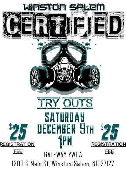 Winston-Salem Certified Try Outs 2017